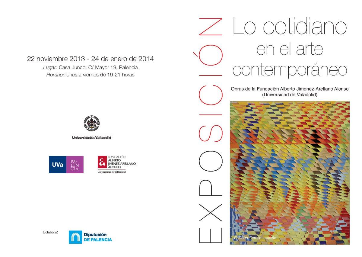"""Folleto exposición """"Lo cotidiano en el arte contemporáneo"""""""